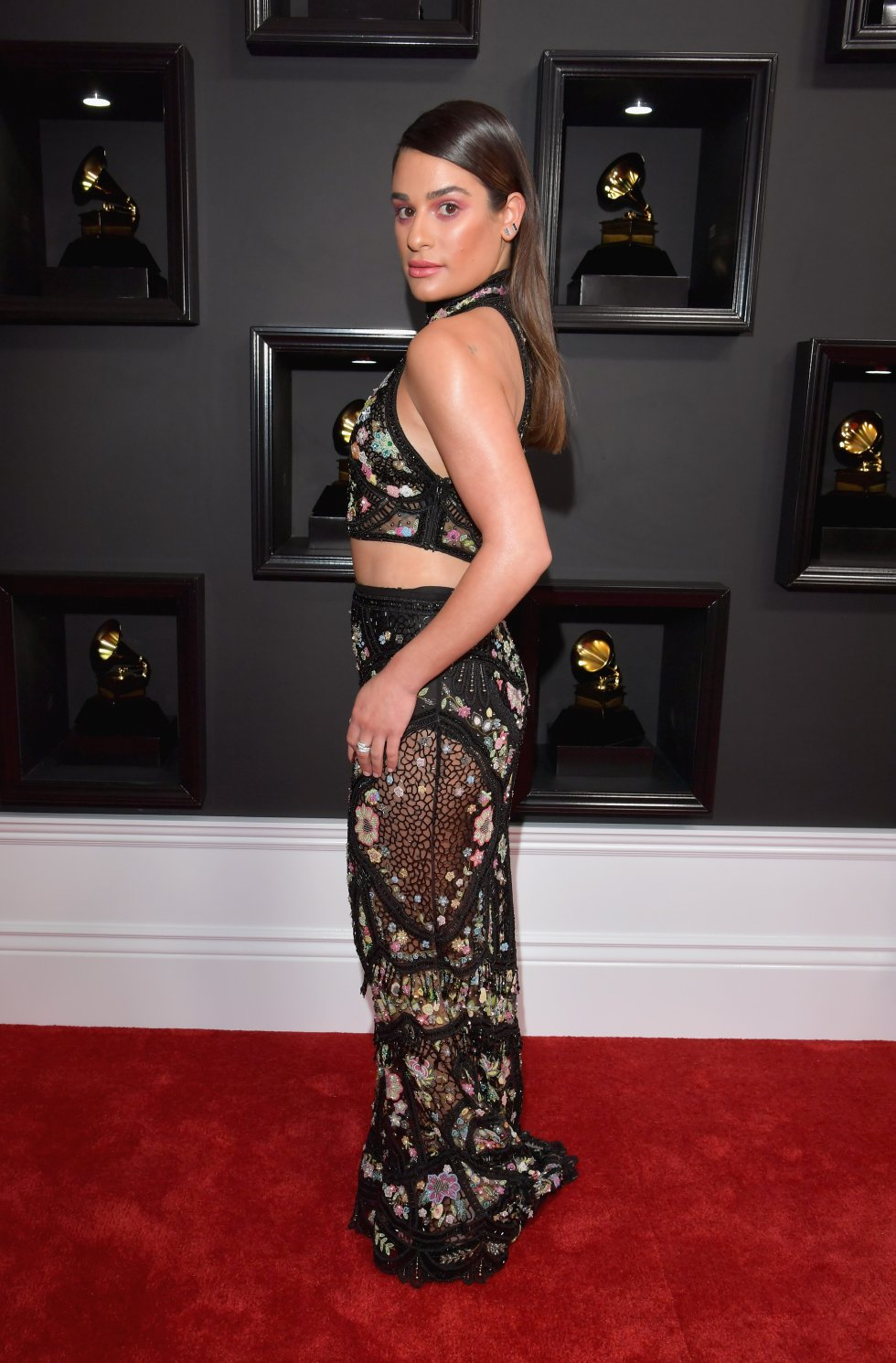 La británica Adele logró los cinco premios a los que aspiraba en la 59 edición de los Grammy.
