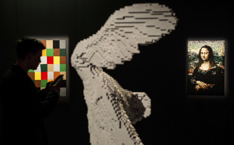"""Las obras """"Nueva Armonía, Mona Lisa y Nike Samothrace"""" hicieron parte de la exhibición."""
