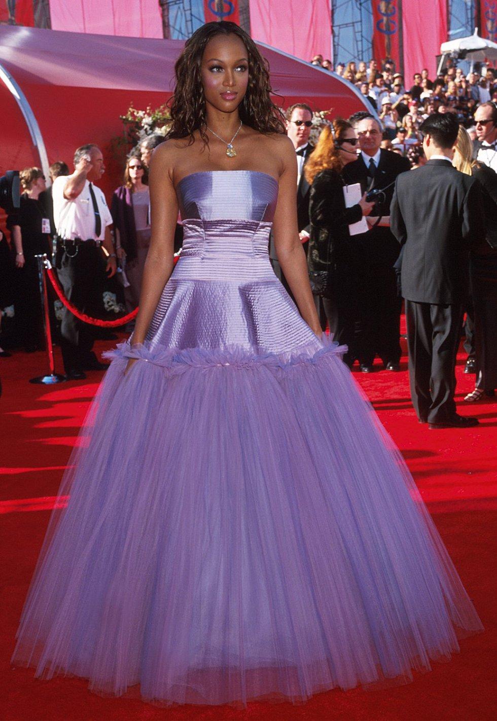 La modelo Tyra Banks en el año 2000.