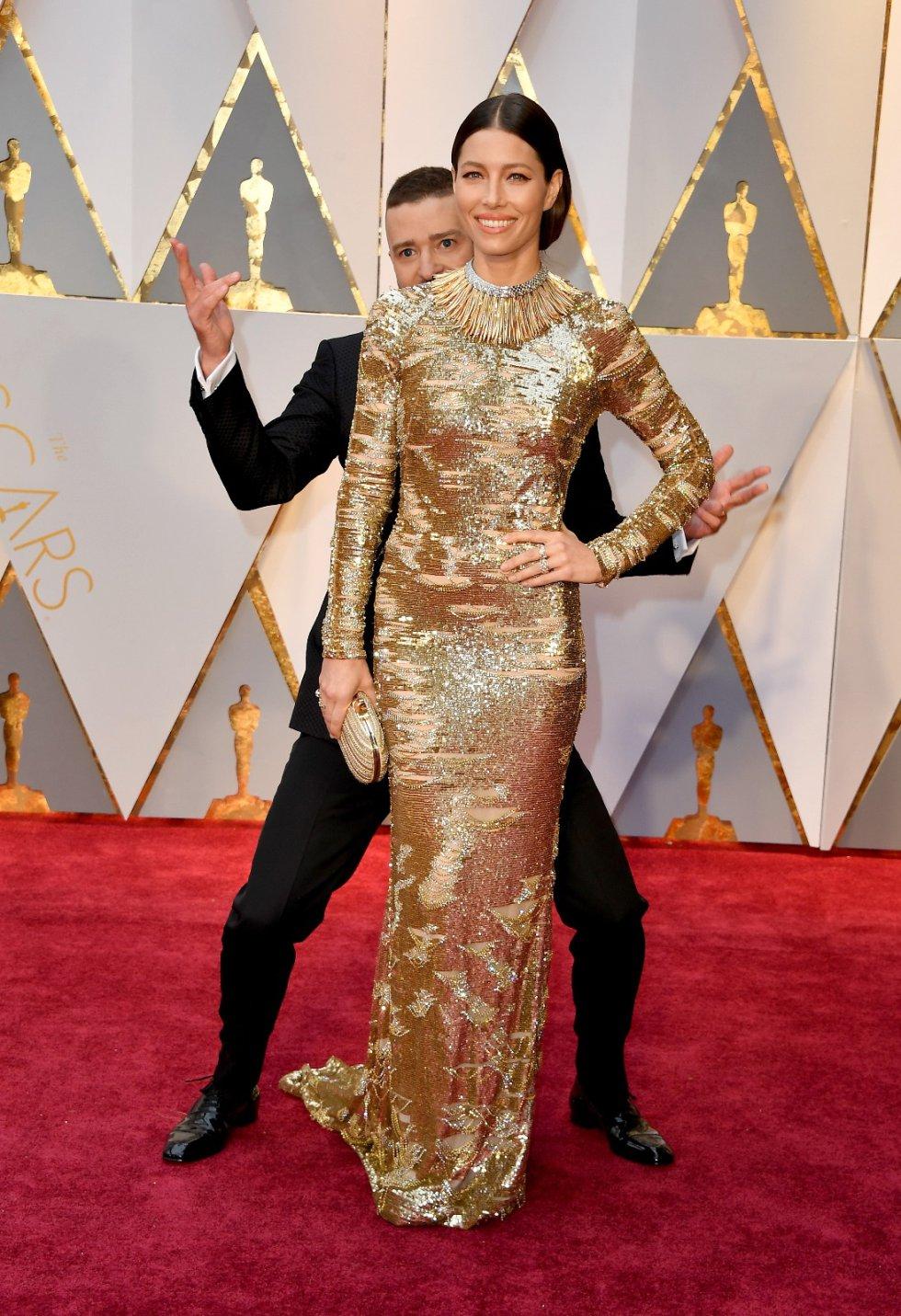 Jessica Biel en compañía de Justin Timberlake