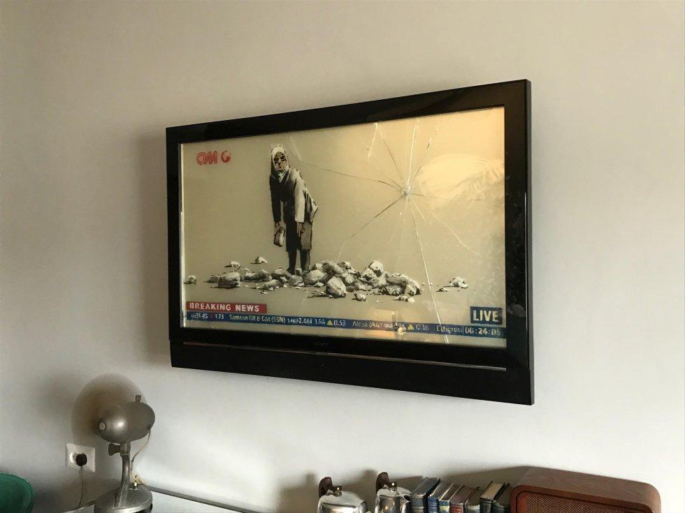 El hotel ha sido decorado con pinturas y objetos que hacen referencia a conflicto entre Palestina e Israel.