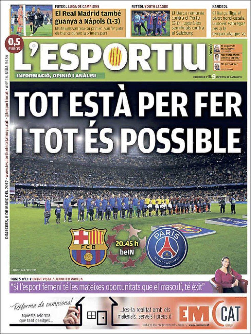 L'Esportiu: Todo está por hacer y todo es posible.