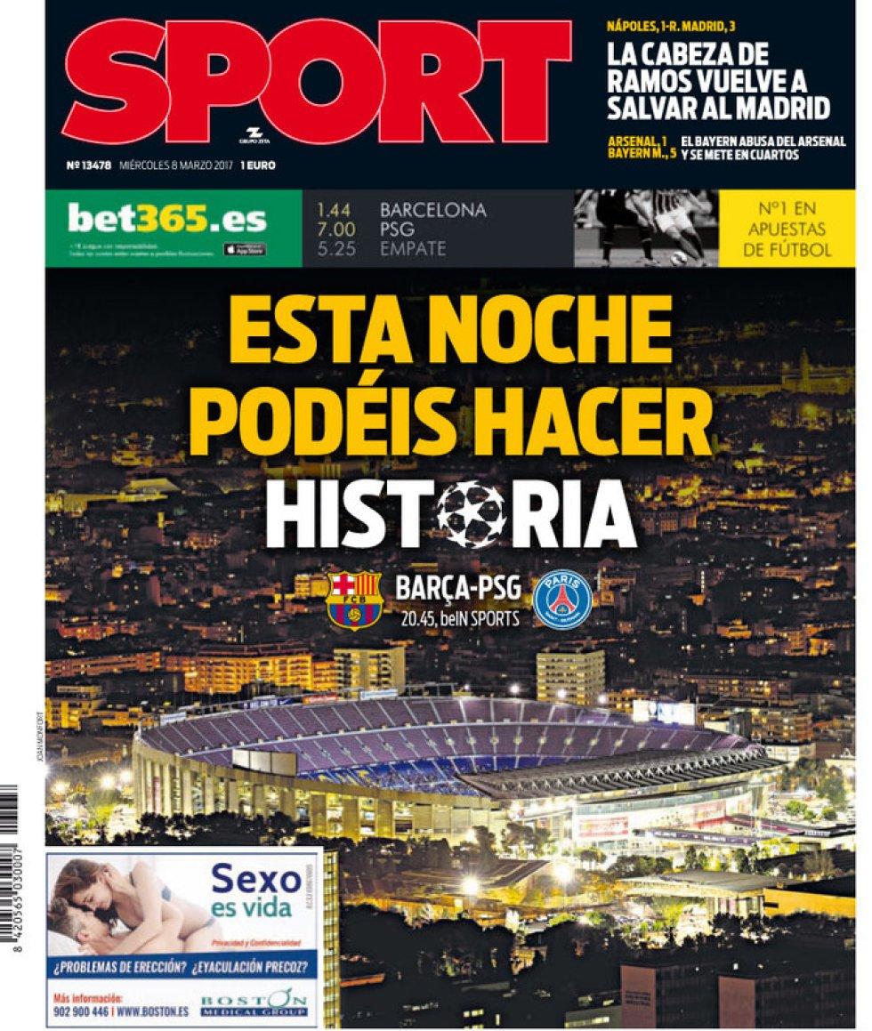 Sport: Esta noche podéis hacer historia.