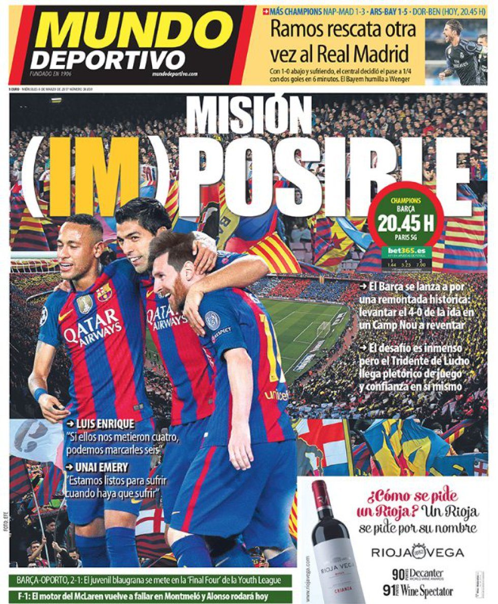 Mundo Deportivo: Misión Imposible.