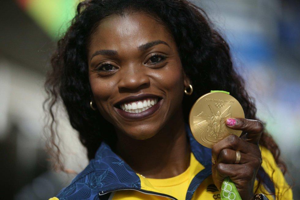 Caterine Ibargüen: Primera medalla de oro para Colombia en el atletismo en Juegos Olímpicos.