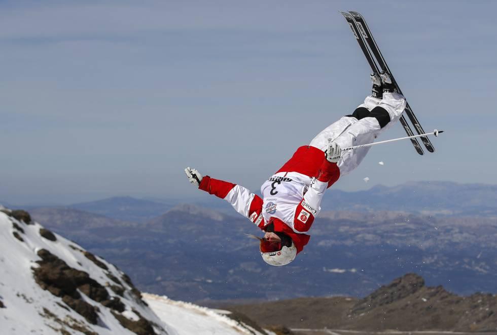 La esquiadora canadiense Justine Dufour-Lapointe fue tercera en la Final de Baches de los Campeonatos del Mundo de Snowboard y Freestyle Ski.