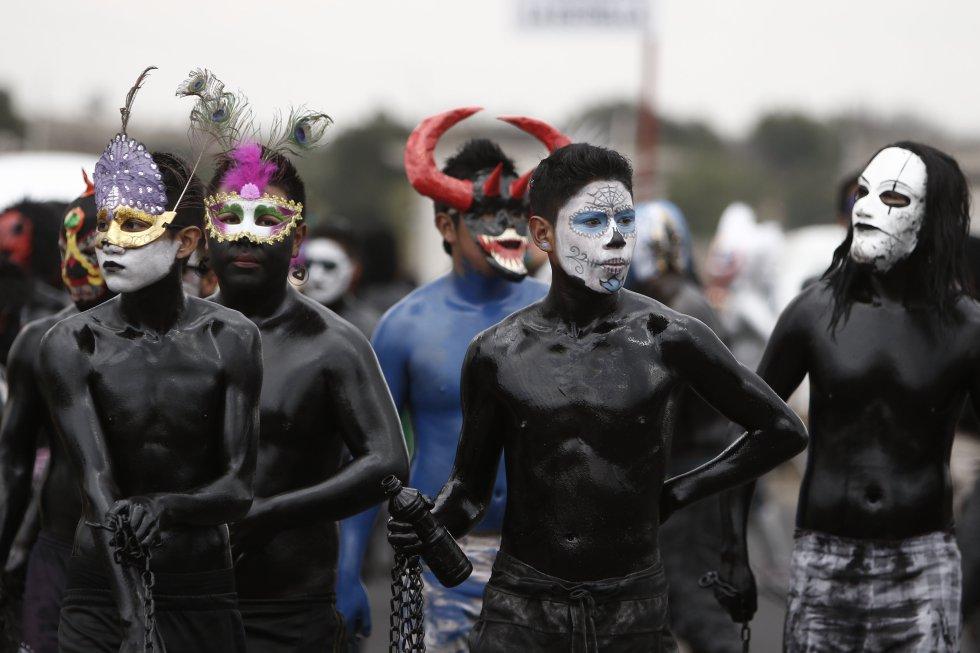 """El objetivo del ritual de """"Los pintados"""" es hacer que se den buenos cultivos antes de la temporada de lluvias que está por iniciar con danzas y otras muestras culturales."""