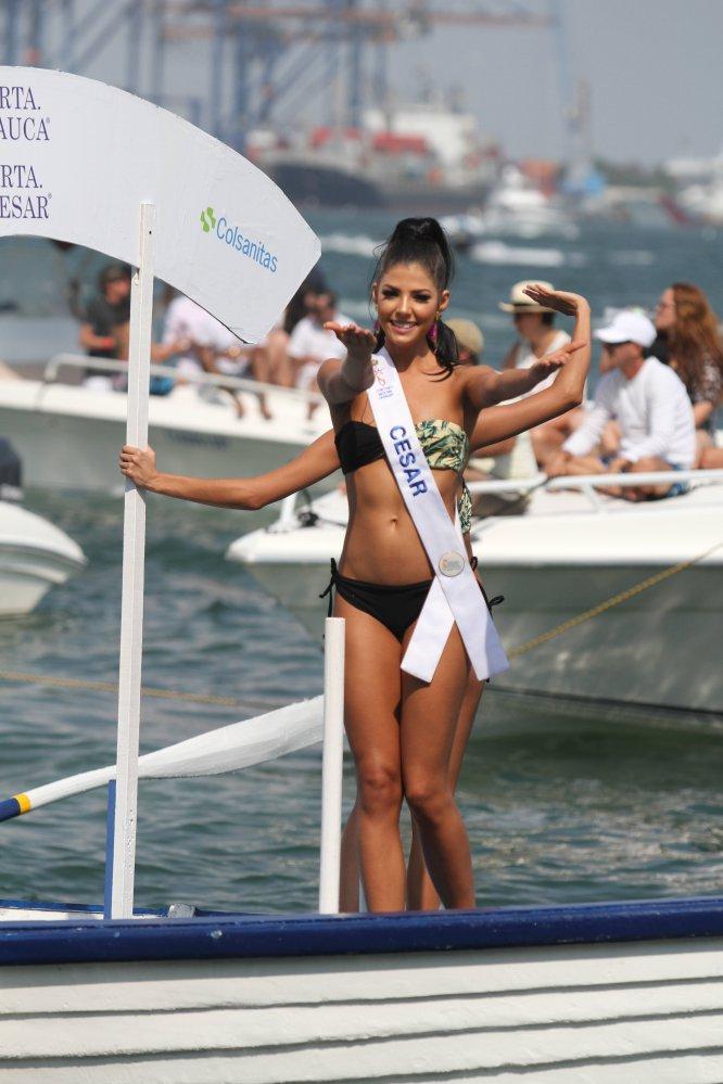 Las reinas usaron trajes de baño. Este lunes 20 de marzo se conocerá la nueva soberana de la belleza colombiana.