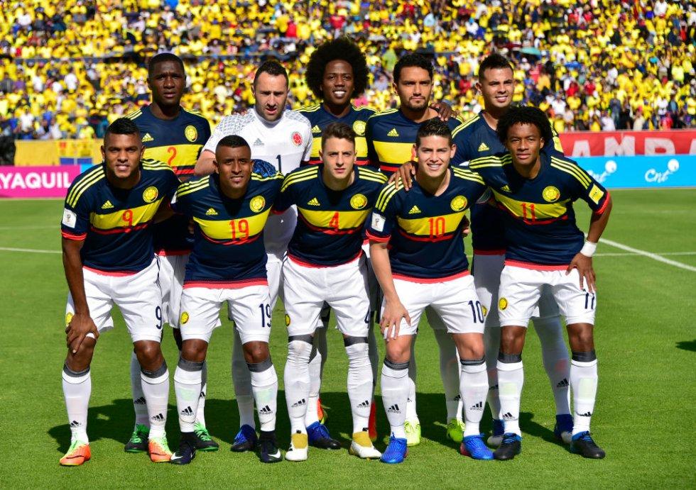 Así formó Colombia al inicio del encuentro.