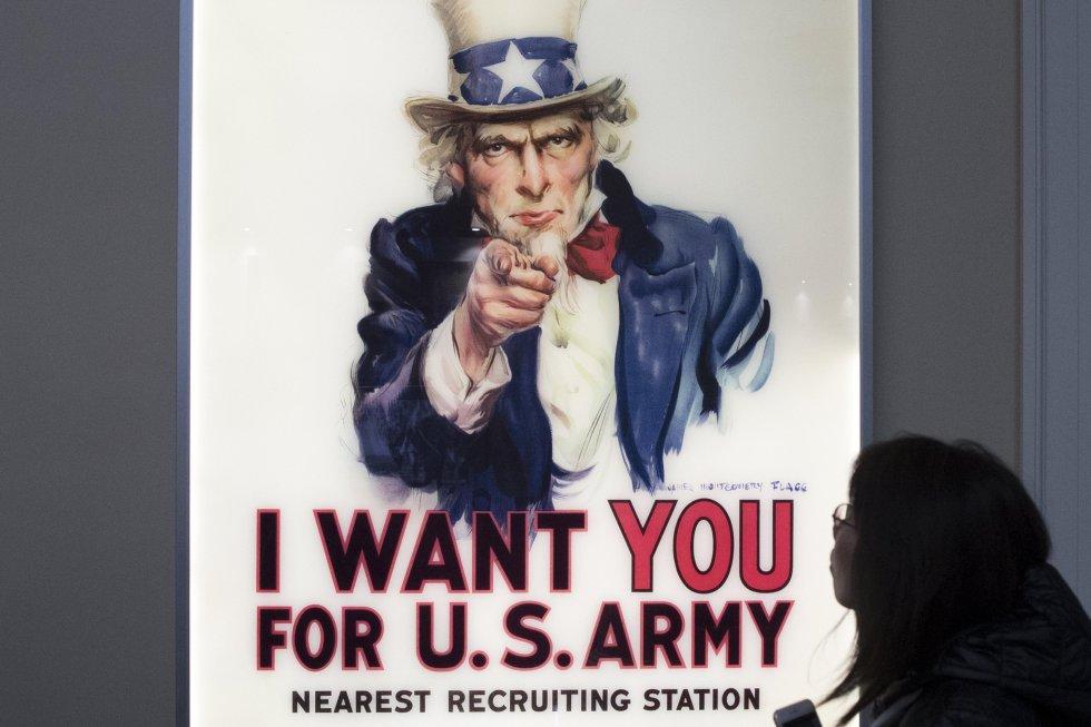 """El """"Tio Sam"""" se convirtió en un símbolo de reclutamiento para la Primera y Segunda Guerra Mundial."""