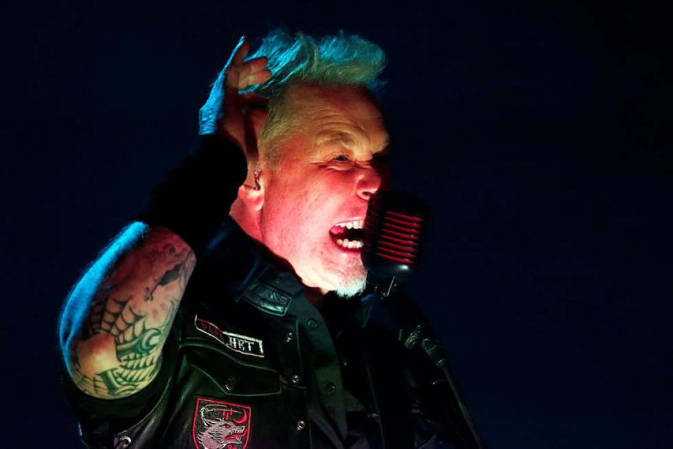 El vocalista de la banda Metallica, James Hetfield.