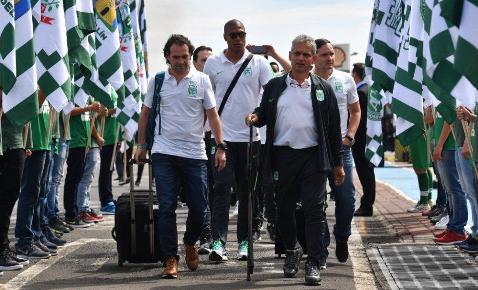 El alcalde de Medellín, Federico Gutiérrez, viajó junto a la delegación de Nacional para afrontar el compromiso.