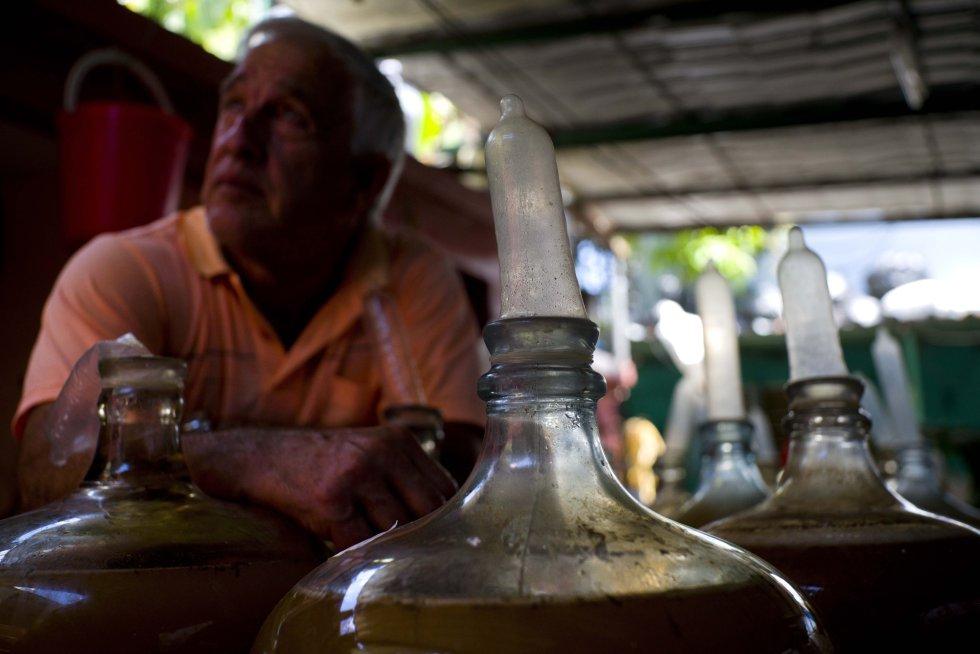 """""""El Canal"""", su casa de vino, se ha convertido en un floreciente negocio que produce miles de litros de vino con sabor a uva, guayaba, berro o flor de Jamaica."""