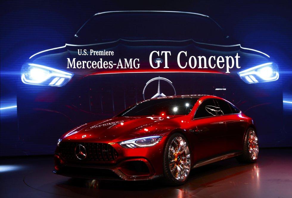 El nuevo auto deportivo deportivo Mercedes-AMG GT del fabricante alemán que lleva el mismo nombre.