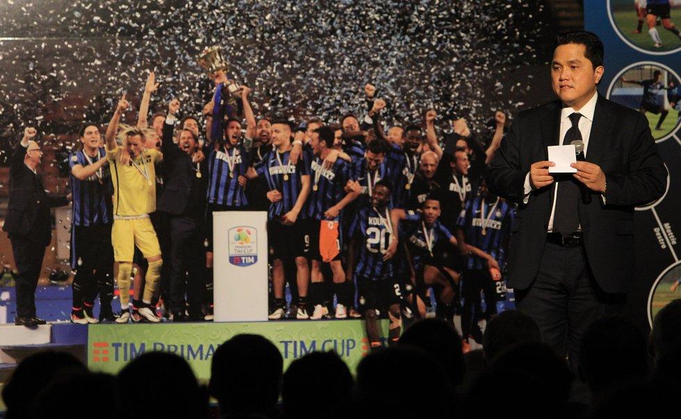 Erick Thohir, de Indonesia, es el representante de un consorcio Chino que compró al Inter de Milán en 2013, pero no ha podido recobrar su grandeza en las canchas.