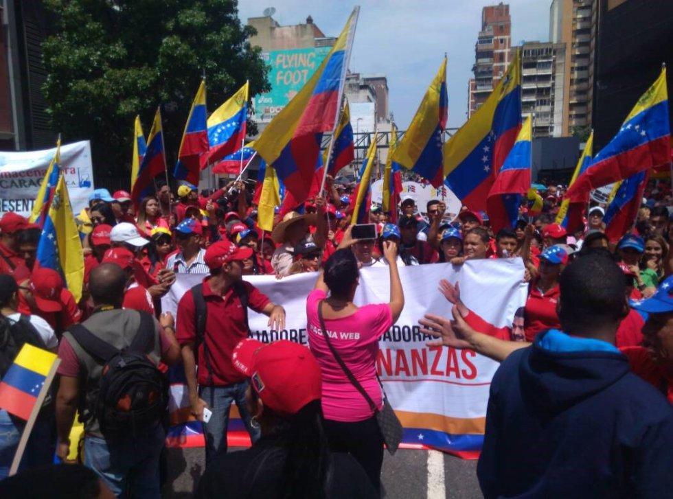 Algunas de las protestas de este miércoles se tornaron violentas y se saldaron con dos personas fallecidas en Caracas y en el estado Táchira (oeste del país).