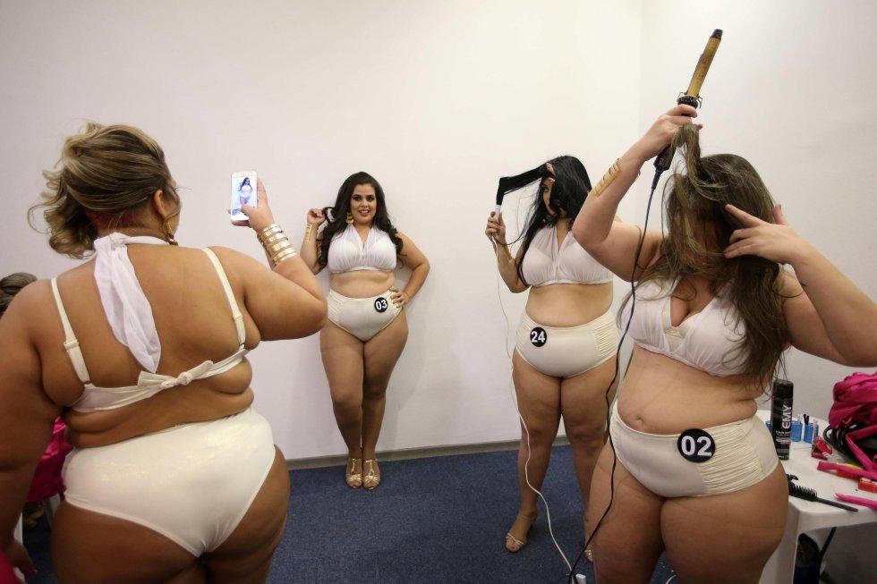 El concurso 'Diosa Sexy Plus Size', una competición de belleza de tallas grandes en el marco de una feria de productos eróticos en Río de Janeiro.