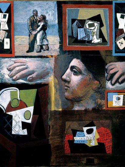 """La exposición está abierta hasta el viernes 7 de mayo. Dese prisa si está en Los Ángeles o aledaños. (Obra: """"Estudios"""", óleo sobre lienzo, Pablo Picasso, 1920)."""