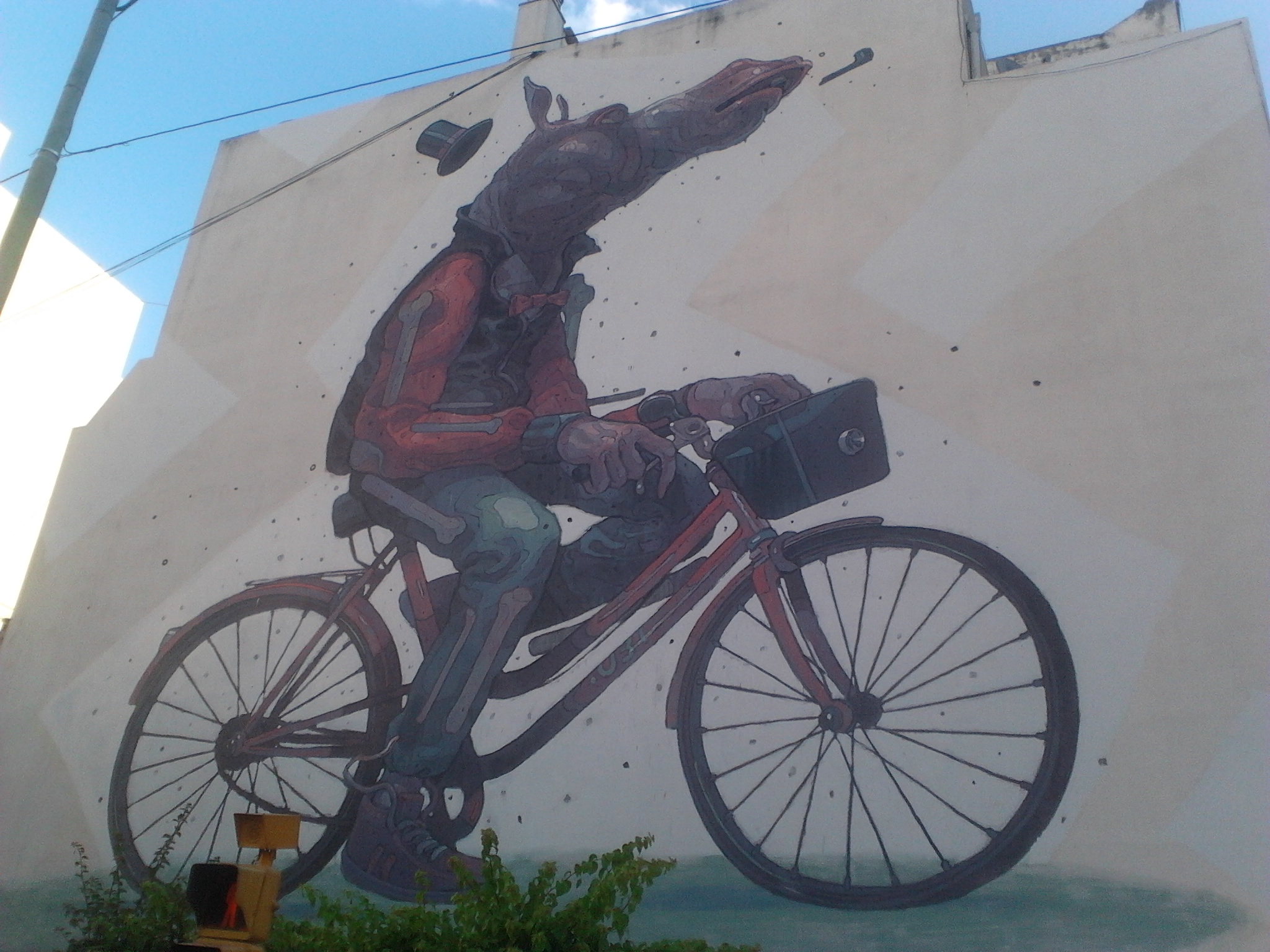 Y desde Buenos Aires nos llega esta foto de Fernando López, de la intersección entre Avenida Independencia y Chacabuco, en el barrio de San Telmo.
