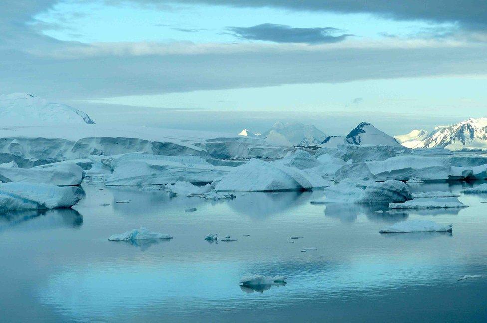 """Mike Meredith: """"Esta foto la tomé en la Península Antártica mientras sacaba los instrumentos que necesitaba para calcular el cambio climático oceánico""""."""