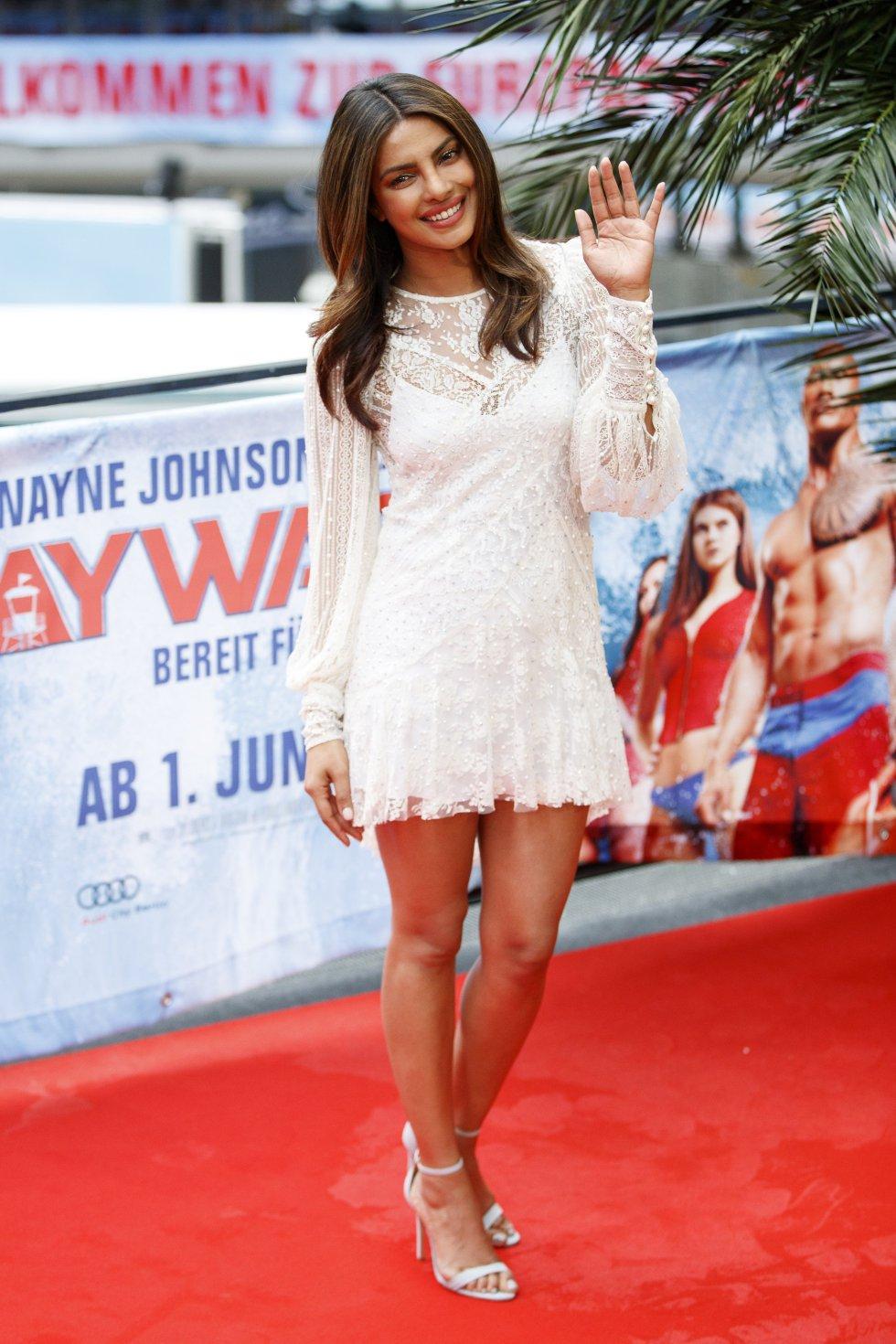 La actriz india, Priyanka Chopra durante la premiere de la cinta que se estrenará el próximo 1 de junio en Alemania.