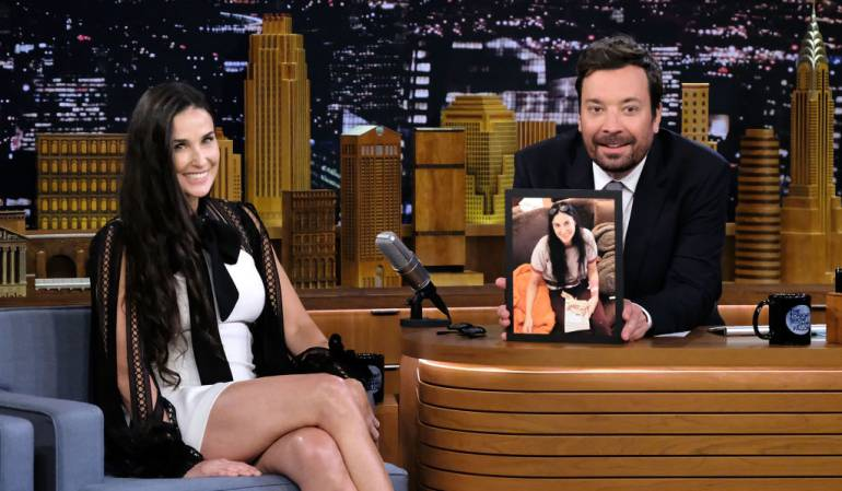 Demi Moore en The Tonight Show Starring Jimmy Fallon