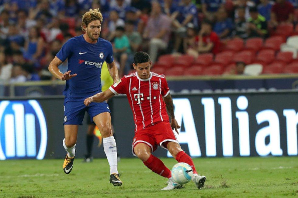 James Rodríguez jugó su primer partido completo con el Bayern Múnich