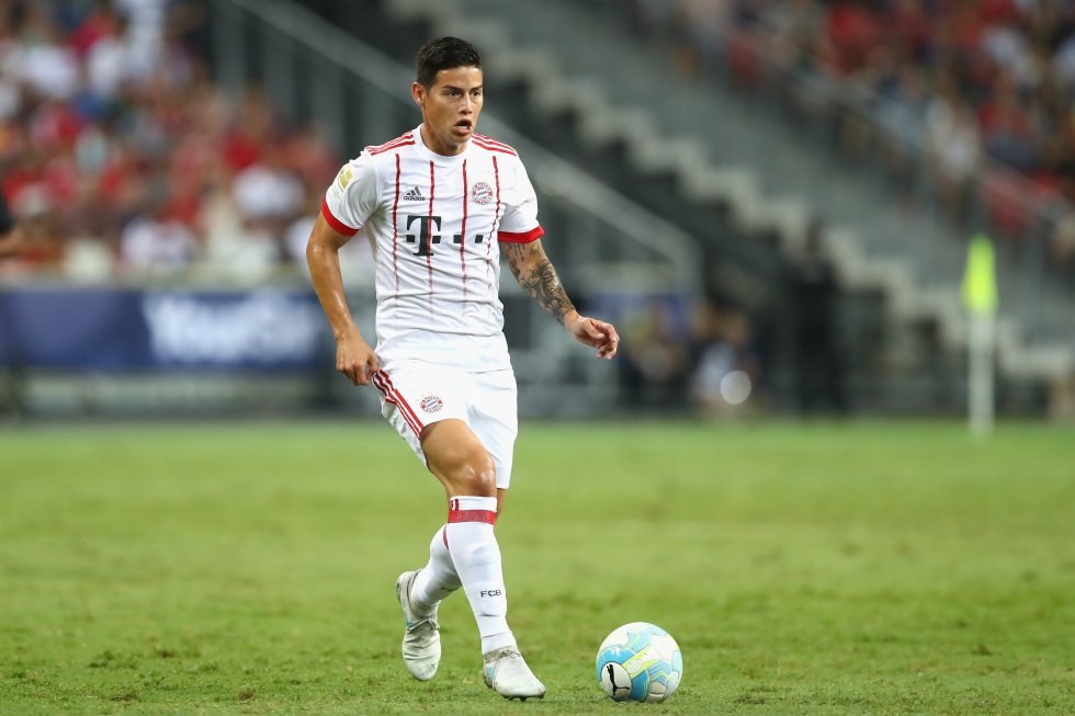 James rodríguez Bayern Munich: Con James en cancha, Bayern pierde ante el Inter de Jeison Murillo