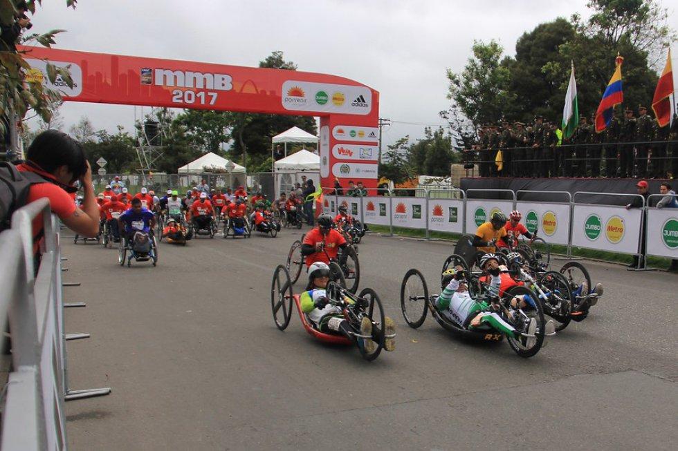 El evento más destacado de atletismo en Bogotá, tuvo la participación de personas en condición de discapacidad.