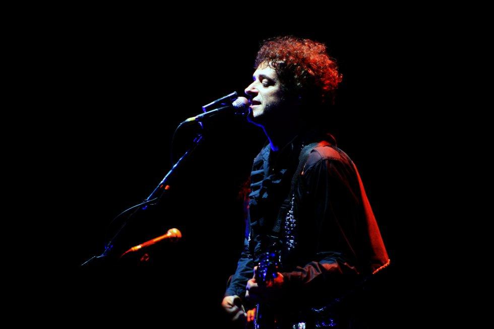 El rockero argentino durante su último concierto en Bogotá el 13 de mayo de 2010.