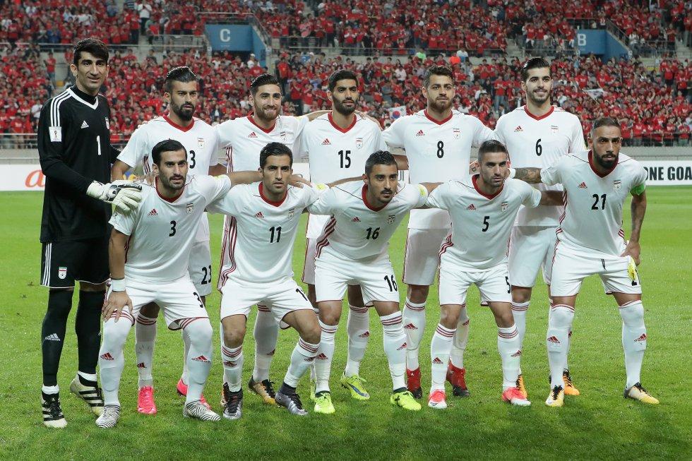 Selección de Irán de fútbol. Clasificado desde junio del 2017 al Mundial Rusia 2018