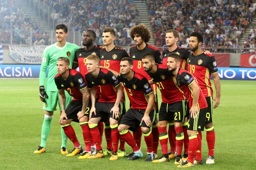 Selección belga de fútbol. Clasificado desde septiembre del 2017 al Mundial Rusia 2018