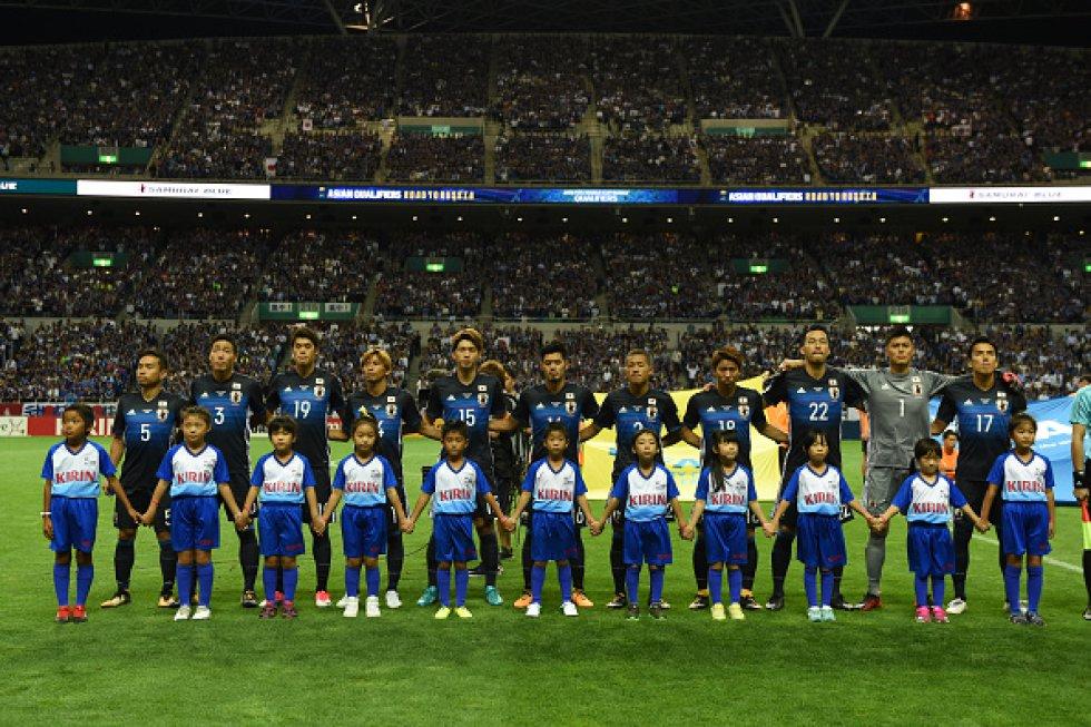 Selección japonesa de fútbol. Clasificado desde agosto del 2017 al Mundial Rusia 2018
