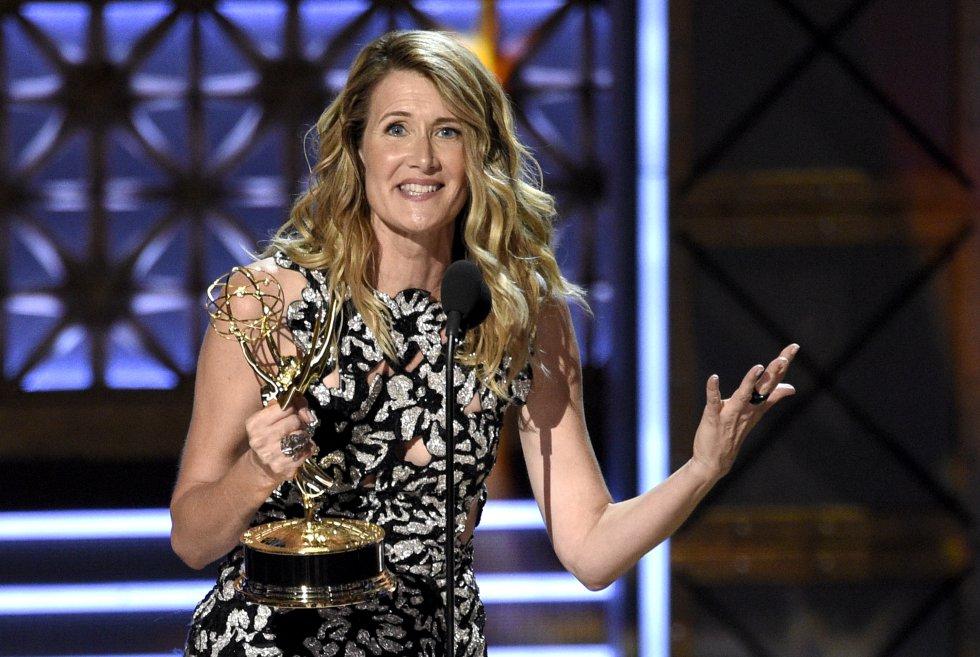 """Laura Dern ganó el premio a la actriz destacada de reparto en una serie limitada o película para """"Big Little Lies"""""""