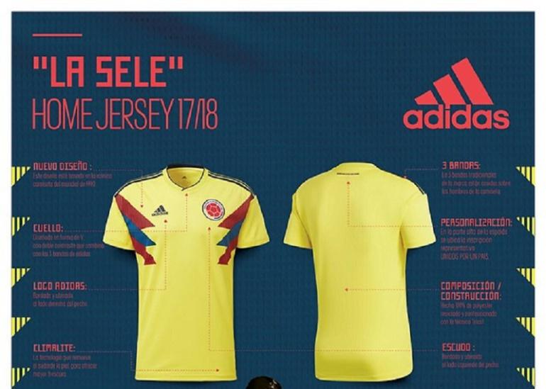 337b02d1cbd camisa seleccion colombia adidas rusia 2018: Adidas presenta hoy la camiseta  de la Selección para