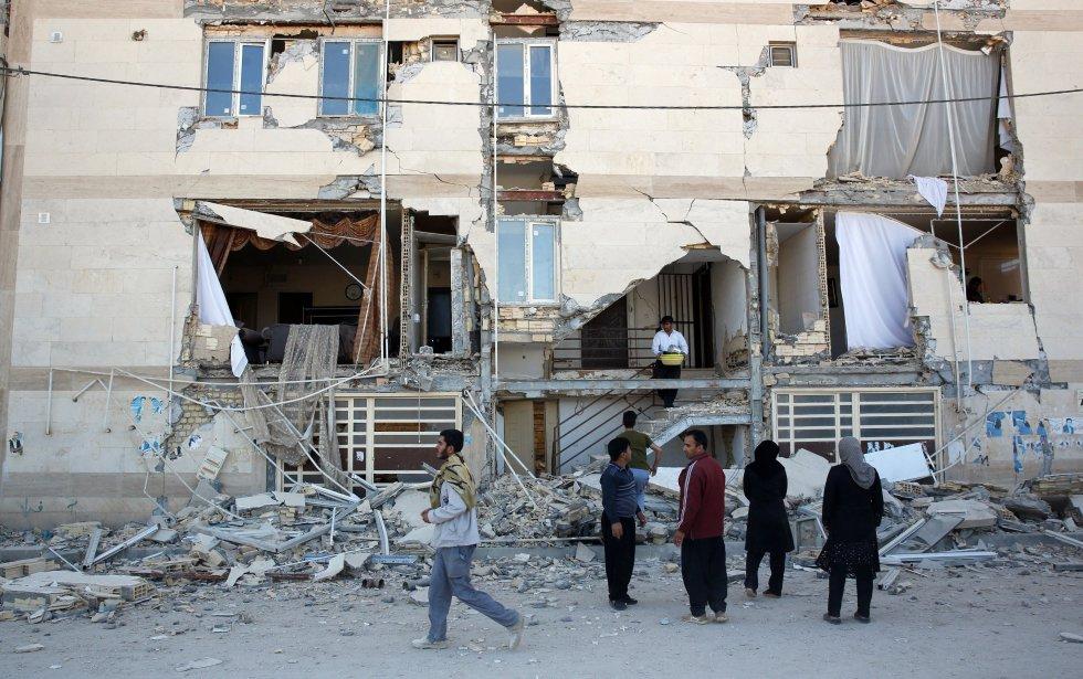El terremoto de 7,3 grados en la escala de Richter