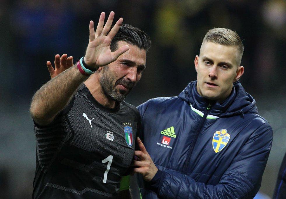 En imágenes: el adiós de un 'grande', Buffon se perderá el Mundial