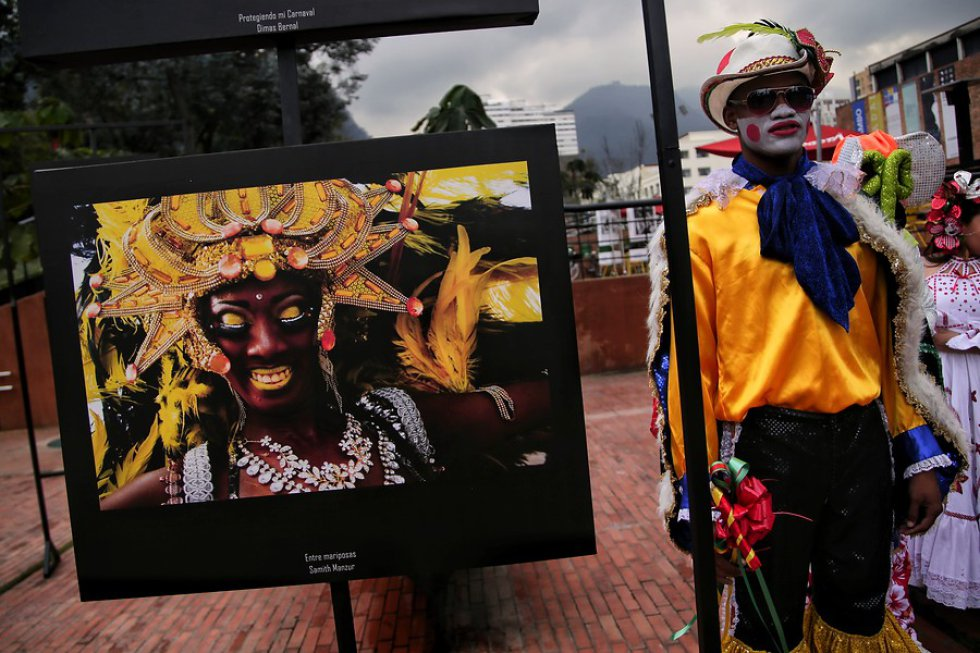 La exposición fotográfica es titulada 'Carnaval de Barranquilla: del Caribe para el mundo.