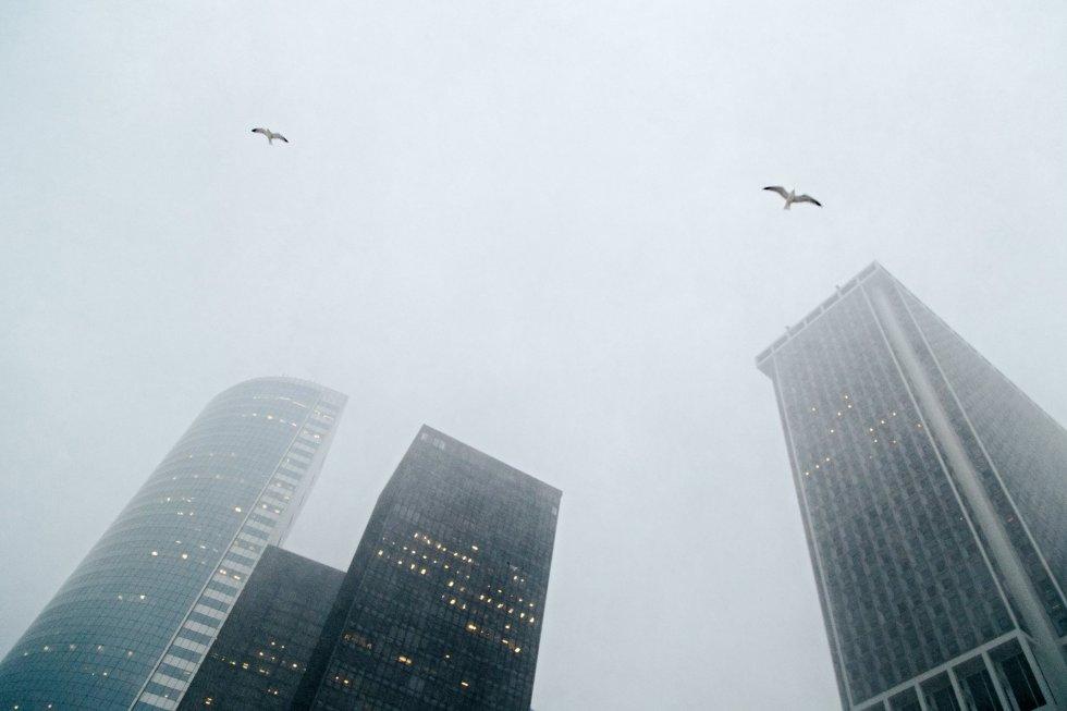 Vista de varios edificios del distrito financiero en Nueva York, Estados Unidos