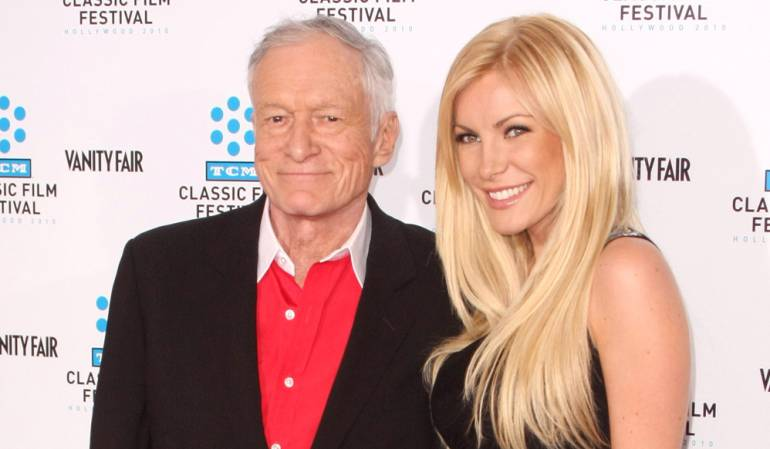 Hugh Hefner y Crystal Harris