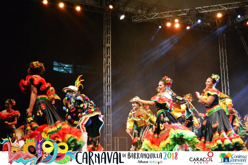 Conozca las fotografías de la coronación del Rey Momo en el Festival de Danzas Especiales y de Relación del Carnaval de Barranquilla 2018.