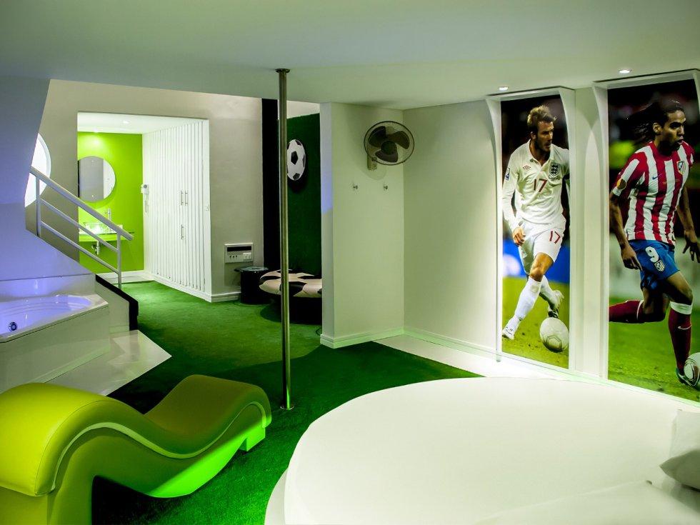 En el motel Penthouse ubicado en Medellín, encontrará habitaciones temáticas.