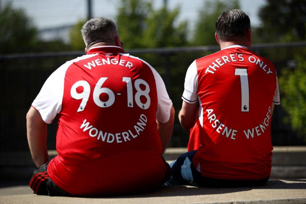 Despedida Arsene Wenger Arsenal: Hinchas del Arsenal despidieron a Wenger en su último juego en el Emirates