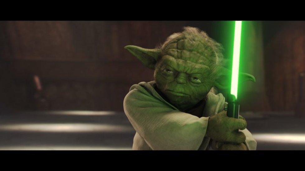Maestro Yoda, uno de los más renombrados y poderosos Maestros Jedi de Star Wars, el cual sobrevivió hasta la Guerra Civil Galáctica.