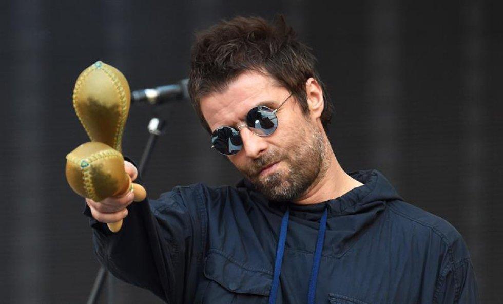 El ex Oasis Liam Gallagher fue el encargado de abrir el concierto de la banda liderada por Mick Jagger y Keith Richards.