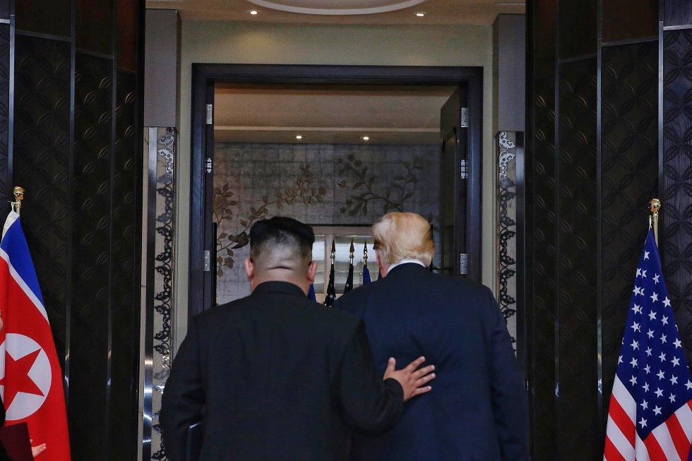 Presidente de Estados Unidos, Donald Trump. Líder norcoreano, Kim Jong-Un