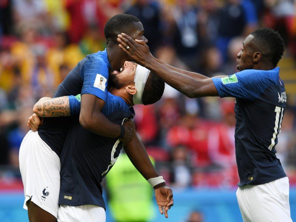 Francia 2-1 Australia imágenes Mundial 2018: Las mejores imágenes del triunfo 2-1 de Francia ante Australia
