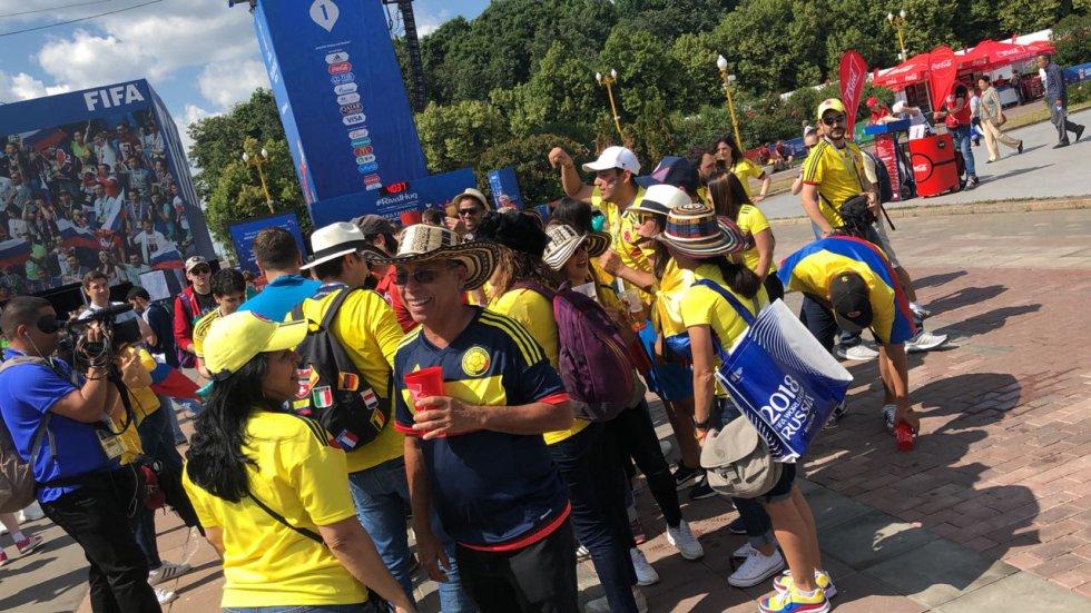 Colombia vs Japón En Vivo: Hinchas colombianos arman la fiesta en Saransk