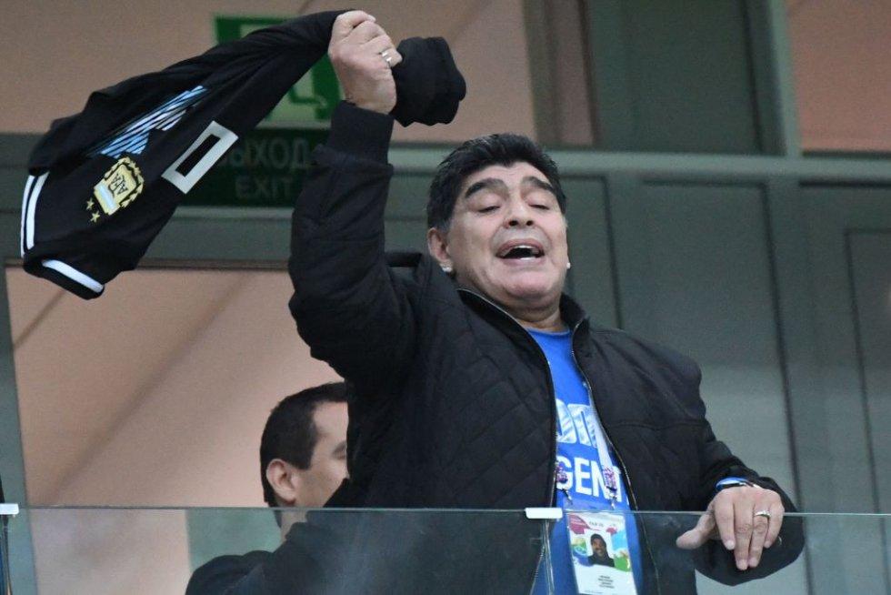 Fotogalería Diego Maradona: De la euforia a la tristeza: así fue el viacrucis de Maradona en Nizhny