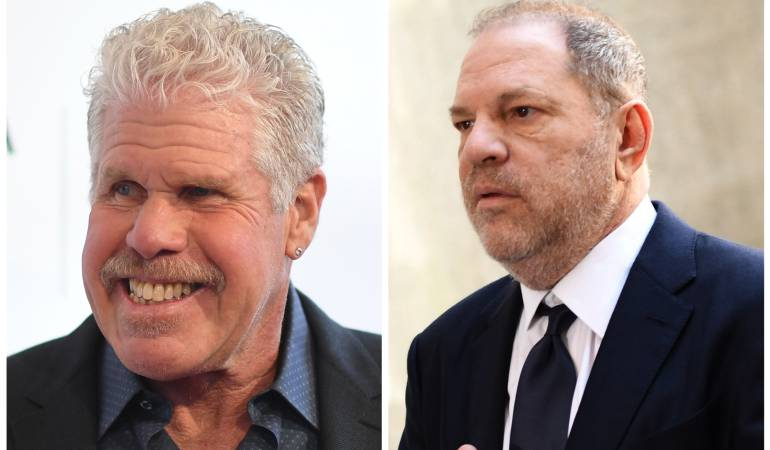 Ron Perlman y Harvey Weinstein